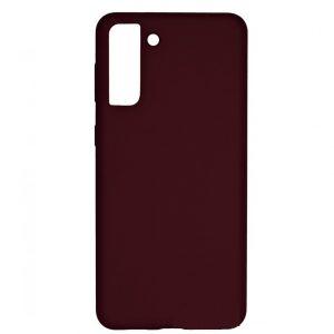 Чехол Silicone Case WAVE Full с микрофиброй для Samsung Galaxy S21 Plus – Plum