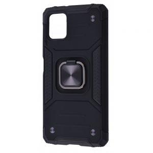Ударопрочный чехол Hard Defence под магнитный держатель для Samsung Galaxy A12 / M12 – Black