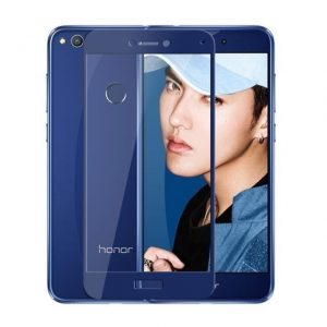 Защитное стекло 3D (5D) Full Glue Armor Glass на весь экран для Huawei P8 Lite 2017 – Blue
