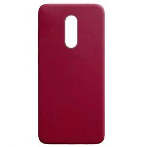 Матовый силиконовый TPU чехол для Xiaomi Redmi 5 Plus – Бордовый