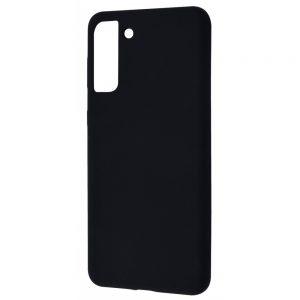 Чехол Silicone Case WAVE Full с микрофиброй для Samsung Galaxy S21 Plus – Black