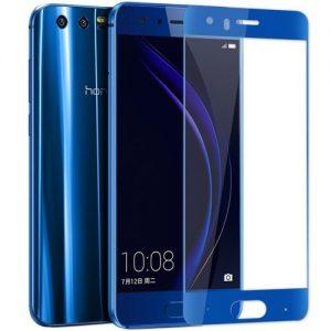 Защитное стекло 3D (5D) Full Glue Armor Glass на весь экран для Huawei Honor 9 – Blue