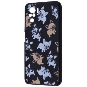 TPU чехол WAVE Fancy Case для Xiaomi Redmi Note 10 / Note 10s – Pug / Black