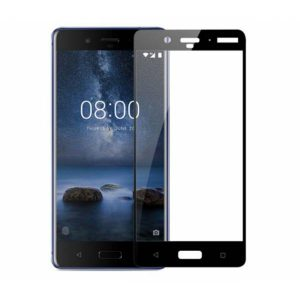 Защитное стекло 2.5D (3D) Full Cover на весь экран для Nokia 8 – Black