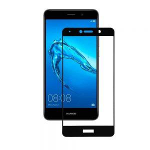 Защитное стекло 3D (5D) Perfect Glass HD+ на весь экран для Huawei Y7 2017 — Black