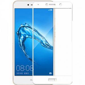 Защитное стекло 21D Full Glue Cover Glass на весь экран для Huawei Y7 2017 — White