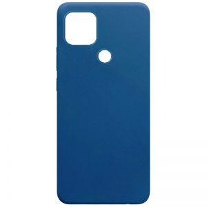Матовый силиконовый TPU чехол для Oppo A15s / A15 – Синий