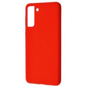 Чехол Silicone Case WAVE Full с микрофиброй для Samsung Galaxy S21 Plus – Red