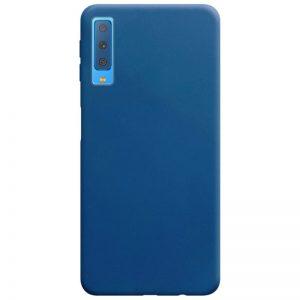 Матовый силиконовый TPU чехол на Samsung Galaxy A7 2018 A750 – Синий