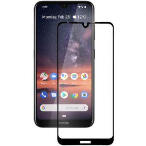 Защитное стекло 3D (5D) Full Glue Armor Glass на весь экран для Nokia 3.2 – Black