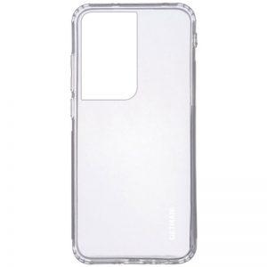 Прозрачный силиконовый TPU чехол GETMAN для Samsung Galaxy S21 Ultra