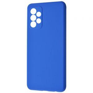 Чехол Silicone Case WAVE Full с микрофиброй для Samsung Galaxy A72 – Blue
