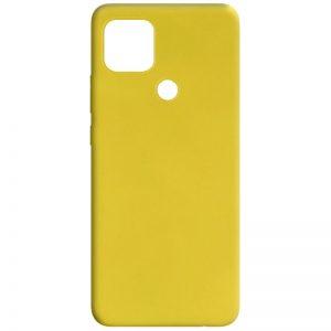 Матовый силиконовый TPU чехол для Oppo A15s / A15 – Желтый
