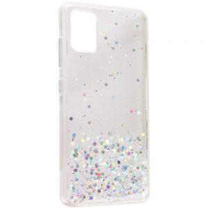 Cиликоновый чехол с блестками Shine Glitter для Samsung Galaxy A02s – Прозрачный