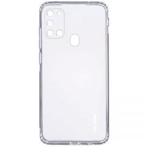 Прозрачный силиконовый TPU чехол GETMAN для Samsung Galaxy A21s