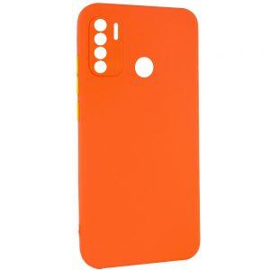Чехол TPU Square Full Camera для Tecno Spark 5 Pro – Оранжевый