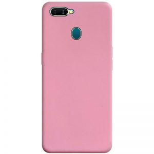 Матовый силиконовый TPU чехол для Oppo A5s / Oppo A12 – Розовый