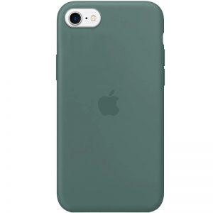 Оригинальный чехол Silicone Case 360 с микрофиброй для Iphone 7 / 8 / SE (2020) – Зеленый / Pine green