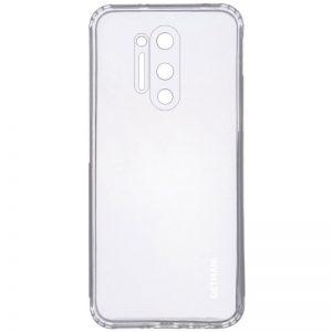 Прозрачный силиконовый TPU чехол GETMAN для OnePlus 8 Pro