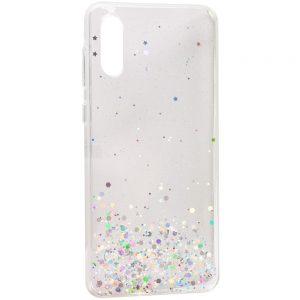 Cиликоновый чехол с блестками Shine Glitter для Samsung Galaxy A02 – Прозрачный