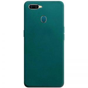 Матовый силиконовый TPU чехол для Oppo A5s / Oppo A12 – Зеленый / Forest green