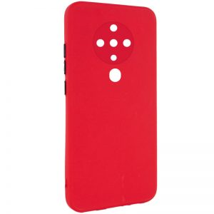 Чехол TPU Square Full Camera для Tecno Spark 6 – Красный