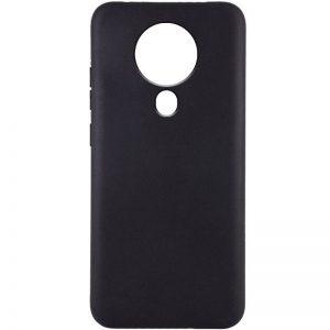 Матовый силиконовый TPU чехол для Tecno Spark 6 – Черный