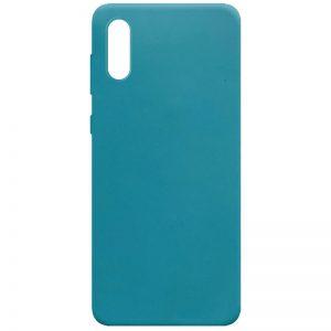Матовый силиконовый TPU чехол для Samsung Galaxy A02 – Синий / Powder Blue