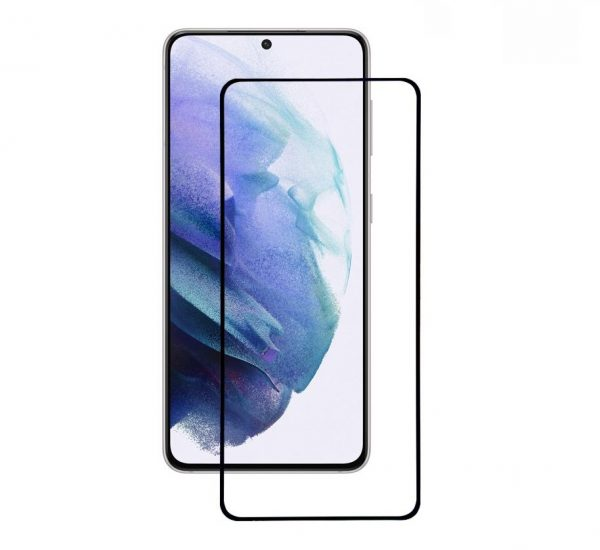 Защитное стекло 3D (5D) Full Glue Armor Glass на весь экран для Samsung Galaxy S21 – Black