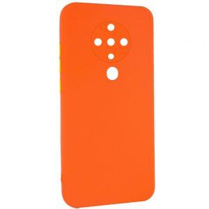 Чехол TPU Square Full Camera для Tecno Spark 6 – Оранжевый