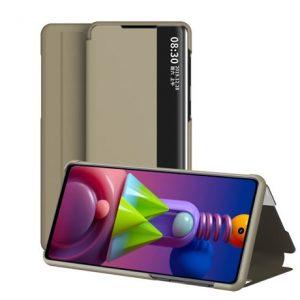 Умный чехол-книжка Smart View Cover для Samsung Galaxy A52 – Золотой