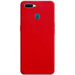 Матовый силиконовый TPU чехол для Oppo A5s / Oppo A12 – Красный