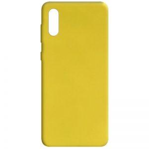 Матовый силиконовый TPU чехол для Samsung Galaxy A02 – Желтый