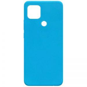 Матовый силиконовый TPU чехол для Oppo A15s / A15 – Голубой