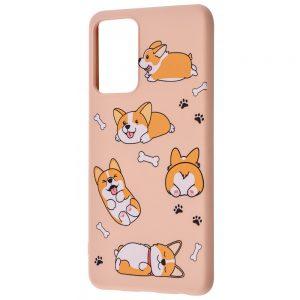TPU чехол WAVE Fancy Case для Samsung Galaxy A72 – Funny corgi / Pink sand