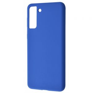 Чехол Silicone Case WAVE Full с микрофиброй для Samsung Galaxy S21 Plus – Blue