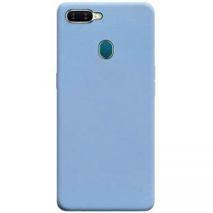 Матовый силиконовый TPU чехол для Oppo A5s / Oppo A12 – Голубой / Lilac Blue