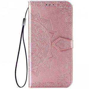 Кожаный чехол-книжка Art Case с визитницей для Xiaomi Redmi Note 10 5G / Poco M3 Pro – Розовый