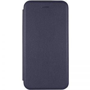 Кожаный чехол-книжка 360 с визитницей для Xiaomi Redmi Note 9T – Темно-синий