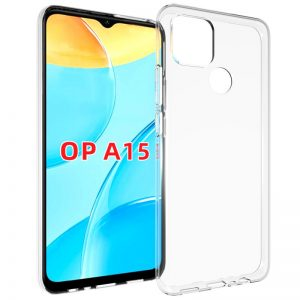 Прозрачный силиконовый TPU чехол для Oppo A15s / A15