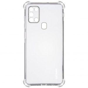 Чехол TPU GETMAN Ease с усиленными углами для Samsung Galaxy A21s – Clear