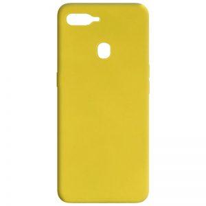 Матовый силиконовый TPU чехол для Oppo A5s / Oppo A12 – Желтый