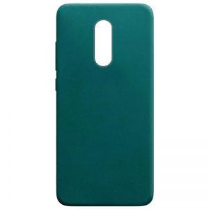 Матовый силиконовый TPU чехол для Xiaomi Redmi 5 Plus – Зеленый / Forest green