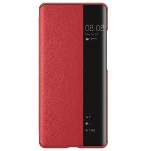 Умный чехол-книжка Smart View Cover для Xiaomi Poco F3 / Mi 11i / Redmi K40 / K40 Pro – Красный