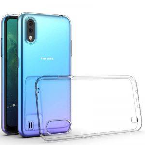 Прозрачный силиконовый TPU чехол для Samsung Galaxy A01