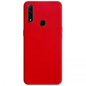 Матовый силиконовый TPU чехол для Oppo A31 / A8 – Красный