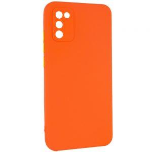 Чехол TPU Square Full Camera для Samsung Galaxy A02s – Оранжевый