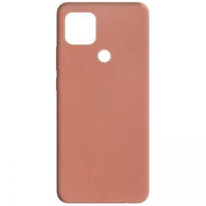 Матовый силиконовый TPU чехол для Oppo A15s / A15 – Rose Gold