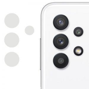 Гибкое защитное стекло 0.18mm на камеру для Samsung Galaxy A72