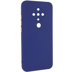 Чехол TPU Square Full Camera для Tecno Spark 6 – Синий